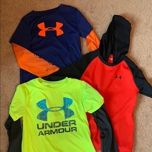 Bundle boys long sleeve under armour shirts